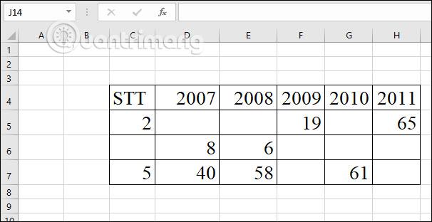 Hướng dẫn xóa dòng trống trong Excel