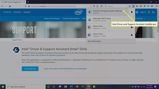 Chạy Intel Driver And Support Assistant Tool