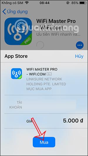 Mua ứng dụng có phí
