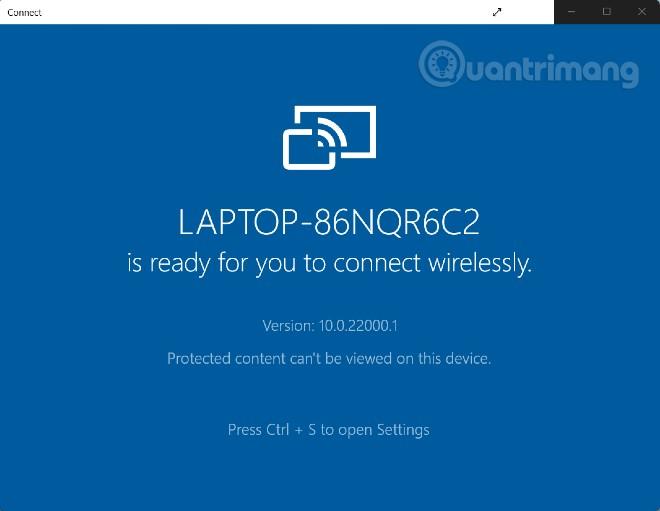 Cách trình chiếu màn hình Android trên Windows 10, Windows 11 với Miracast và Connect