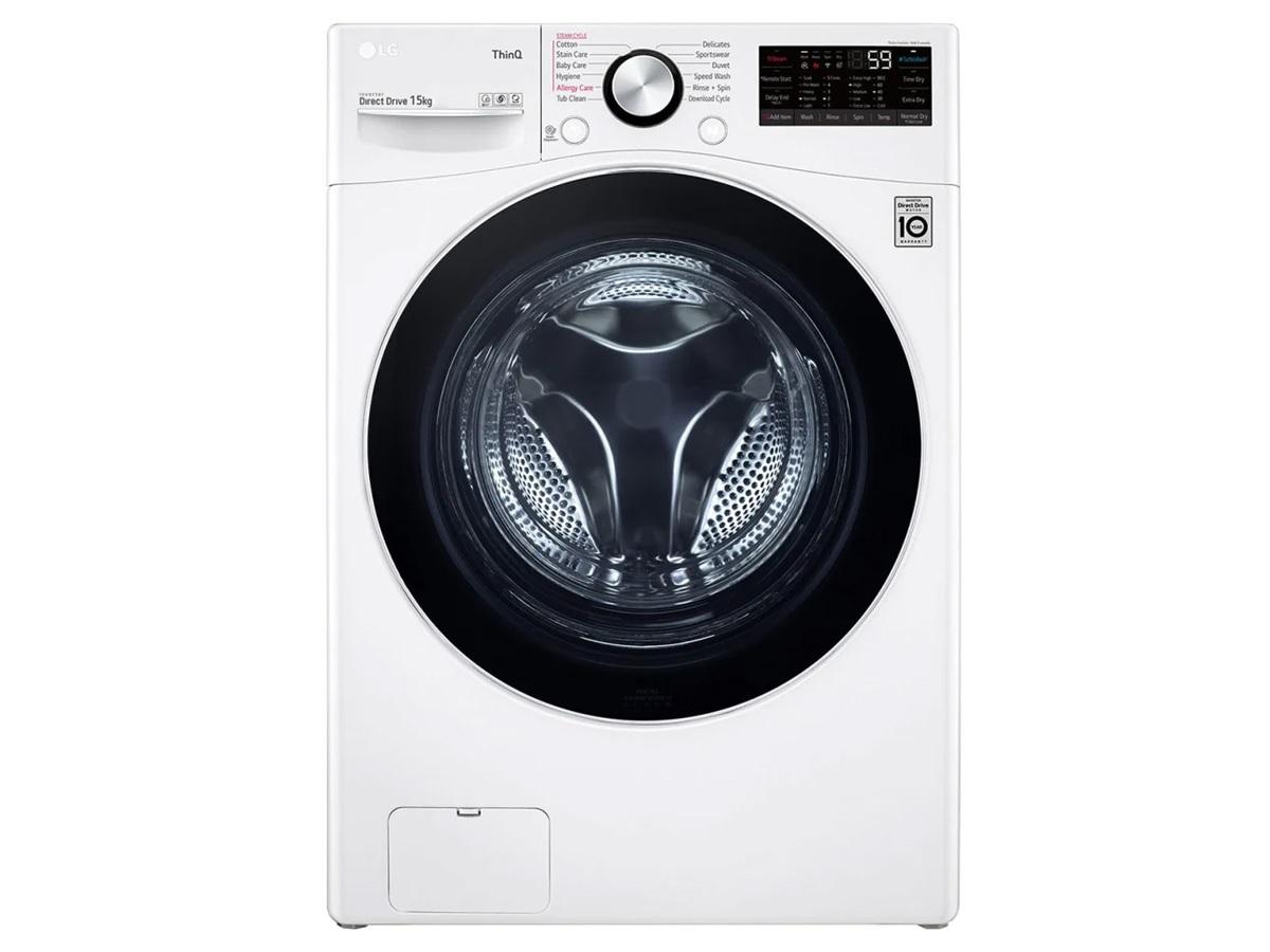 Máy giặt cửa ngang LG 15kg AI DD Inverter F2515STGW (New)