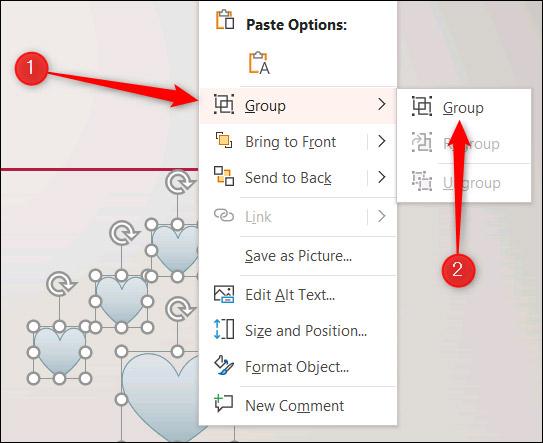 Cách nhóm và tạo hoạt ảnh cho nhiều đối tượng cùng lúc trong MS PowerPoint - Ảnh minh hoạ 3