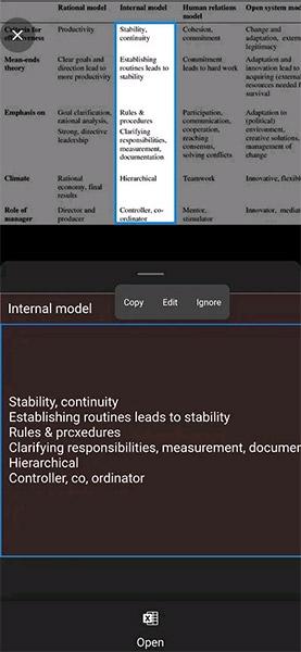 Cách xuất dữ liệu từ ảnh vào trang tính MS Excel trên Android - Ảnh minh hoạ 7