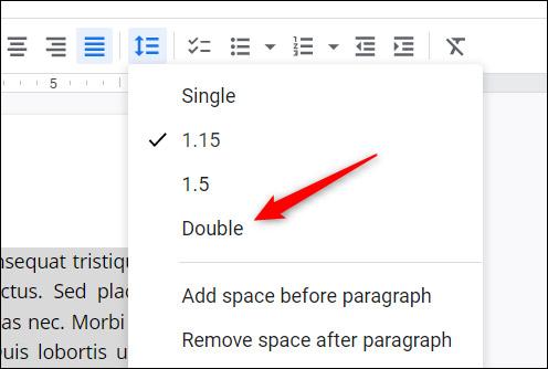 Cách giãn dòng đôi trong Google Docs - Ảnh minh hoạ 3