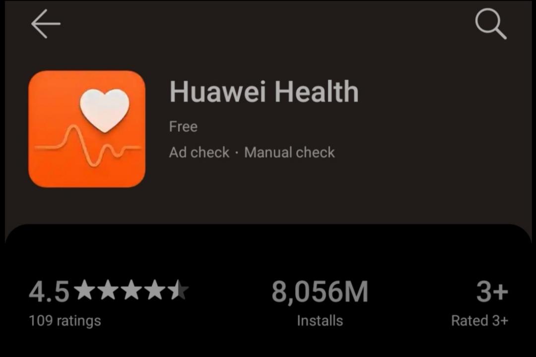 Ứng dụng Huawei Health.