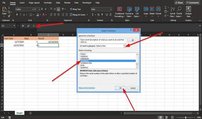 Cách sử dụng hàm WORKDAY trong Microsoft Excel - Ảnh minh hoạ 5