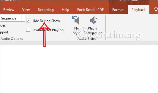 Cách ẩn biểu tượng âm thanh chèn trong PowerPoint - Ảnh minh hoạ 2