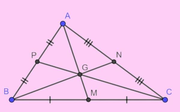 G là trọng tâm của tam giác ABC.