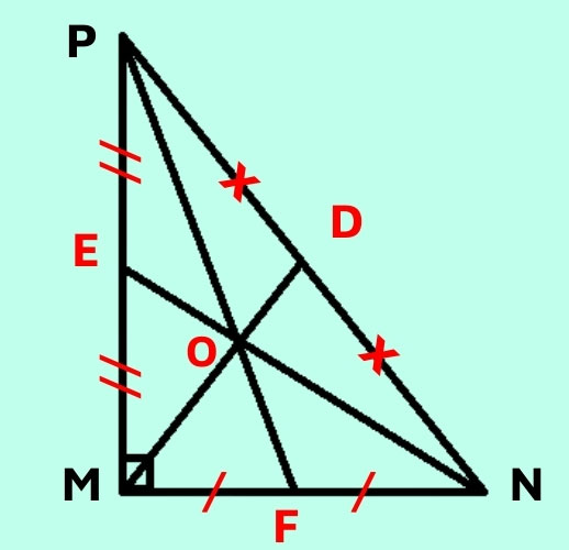 Trọng tâm tam giác vuông