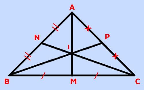Trọng tâm tam giác vuông cân
