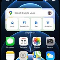 Cách thêm widget Google Maps trên màn hình iPhone