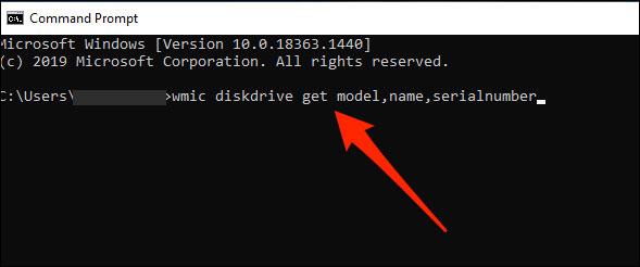 Cách tìm số serial ổ cứng trên Windows 10