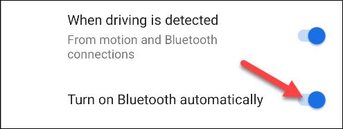 """Kích hoạt thêm tùy chọn """"Turn on Bluetooth automatically"""""""