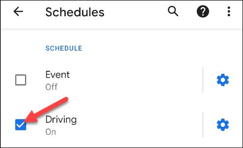 """Chọn """"Driving"""""""