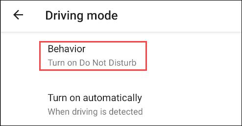 "Bấm chọn ""Behavior"""