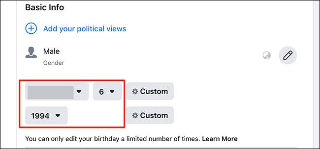 Cách đổi ngày sinh nhật của bạn trên Facebook - Ảnh minh hoạ 5