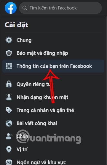 Thông tin trên Facebook