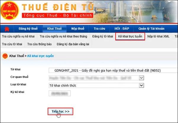 Kê khai thuế trực tuyến
