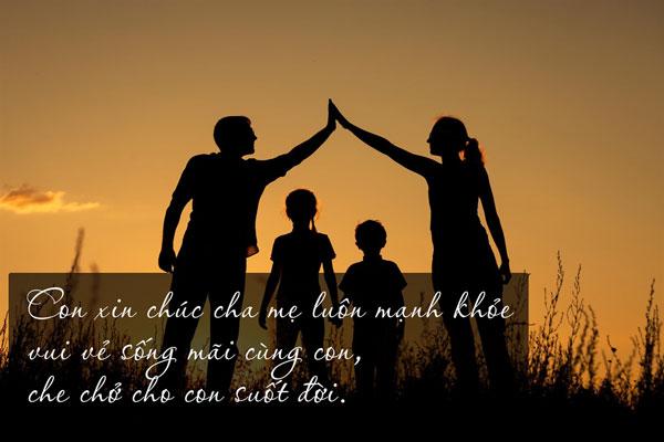 Cha mẹ luôn luôn là điểm tựa vững chắc và là bến đỗ bình yên không đâu sánh bằng cho con cái.