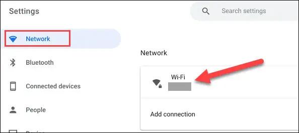 """Nhấn vào """"Wi-Fi"""""""