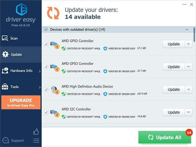 Driver Easy là một phần mềm Windows giúp người dùng phát hiện các driver cũ hoặc bị hỏng