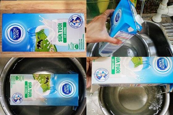 Cách làm giá đỗ tương bằng vỏ hộp sữa