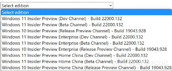 Các phiên bản Windows 11 Insider Preview mà bạn có thể tải file ISO