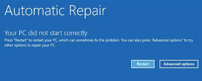 Chạy công cụ Startup Repair
