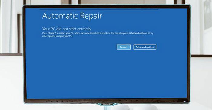 "7 cách sửa lỗi ""Your PC Did Not Start Correctly"""