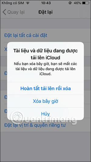 Sao lưu dữ liệu trên iPhone