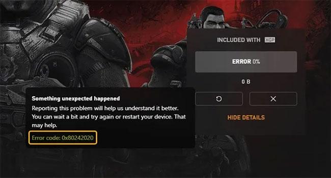 Khắc phục mã lỗi 0x80242022 khi cài đặt game Xbox trên Windows