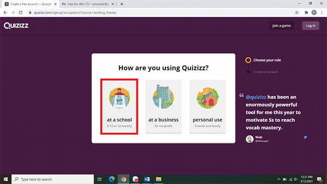 Giao diện của Quizizz
