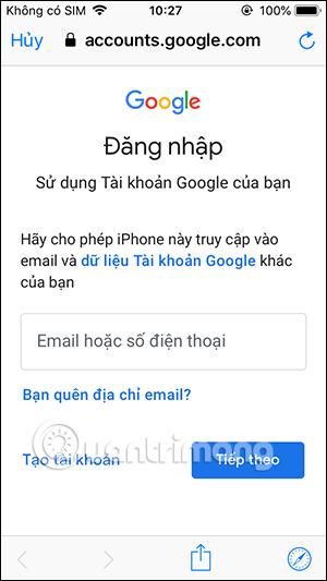 Đăng nhập Google