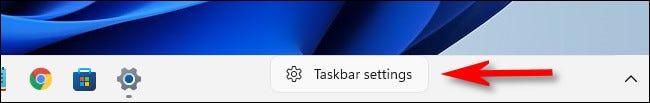 "Chọn ""Taskbar Settings"""