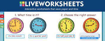 Liveworksheets là một công cụ cho phép giáo viên tạo các bài tập tương tác cho học sinh