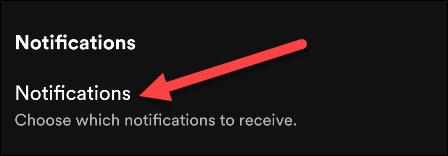 """Nhấn vào mục """"Notifications"""""""