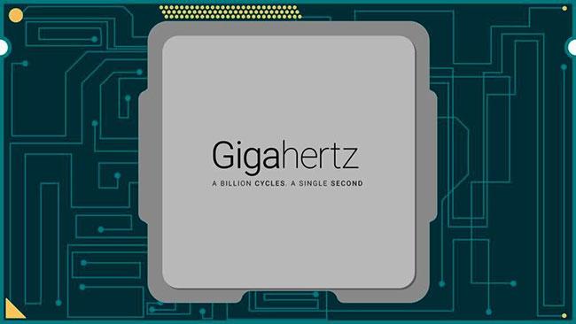 1 gigahertz (GHz) hoàn thành một tỷ chu kỳ xung nhịp mỗi giây