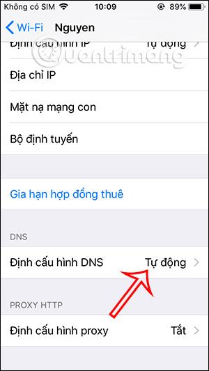 Định cấu hình DNS