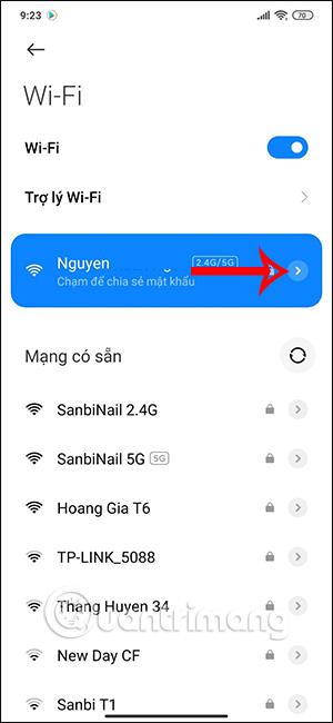 Chỉnh WiFi