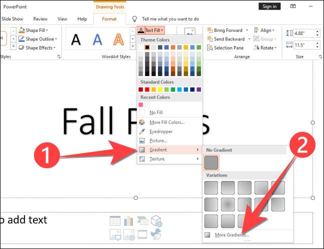 Cách tạo văn bản nhiều màu sắc trong PowerPoint - Ảnh minh hoạ 4