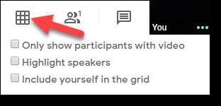 Biểu tượng Google Meet Grid View