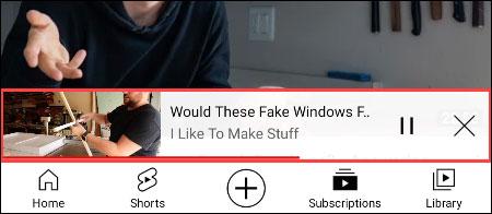 Video sẽ tiếp tục phát dưới dạng thu nhỏ