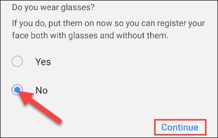 Chọn xem bạn có đeo kính không