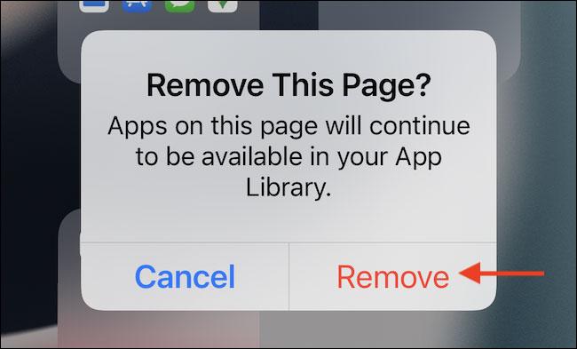 """Select """"Remove"""""""