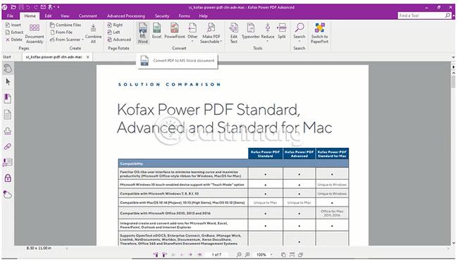 Mở file PDF muốn chuyển đổi
