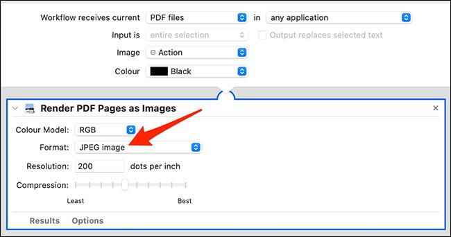"""Chọn """"JPEG Image"""""""