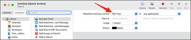 """Chọn """"PDF Files"""""""