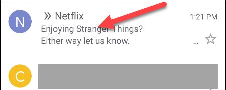 Tìm email bạn muốn hủy lưu trữ
