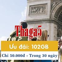 Cách đăng ký gói THAGA5 MobiFone nhận 102GB