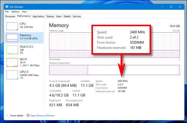 Tốc độ và loại RAM